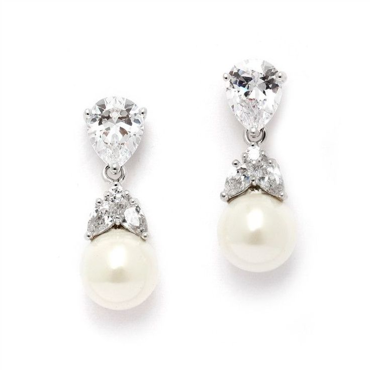 Pear Stud with Pearl Drop Earrings