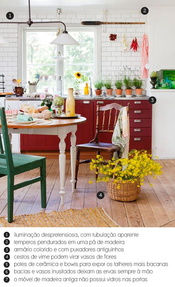 country cozy kitchen #decor #cozinha #kitchen