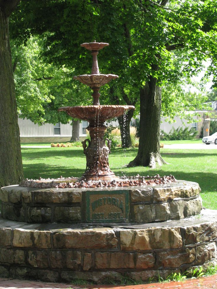 Victoria Park's original fountain, Kincardine, Ontario