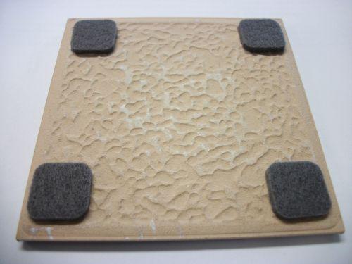 felt feet for tile coasters.
