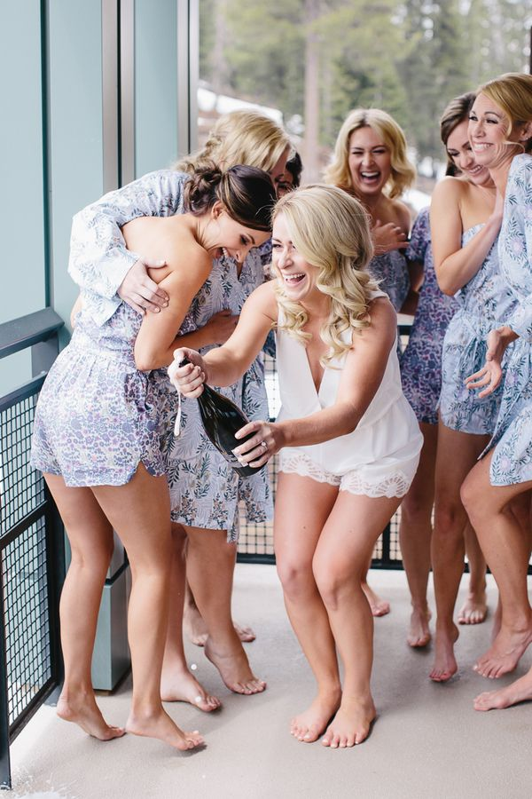 real wedding with bridesmaid rompers