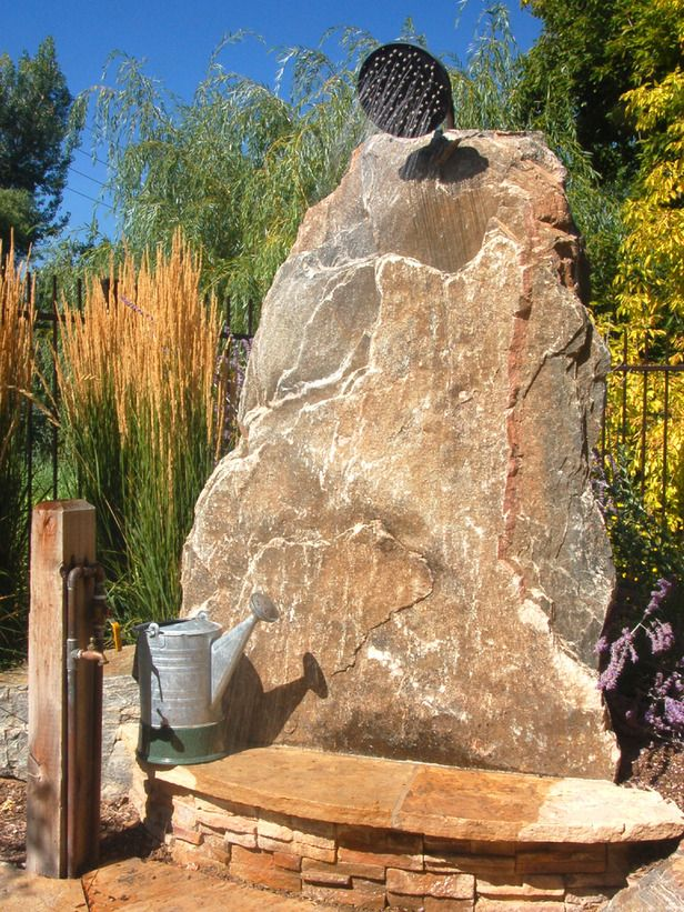 109 best outdoor stone showers and tubs images on for Outdoor rock shower
