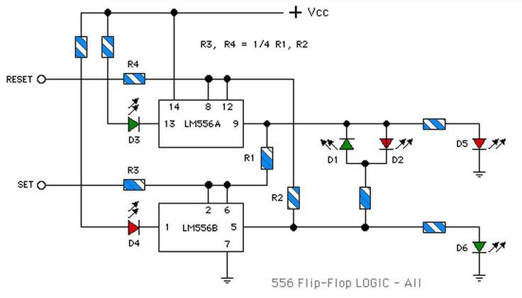 lm556 flip flop truth table