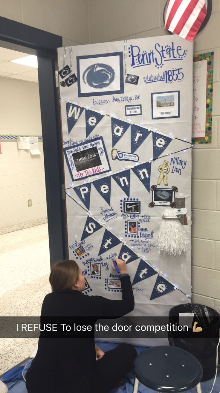 College Week Door Decorating competition #PennState #winning