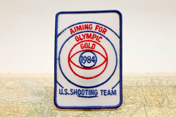 Olympics Embroidered Patch Shooting Team by VintagePatchesBadges
