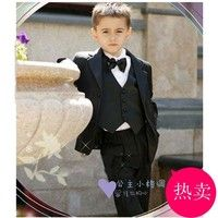 new 2015 boys suits for weddings clothes tuxedo Kids Notch Collar Children Wedding Suit Boys Attire(