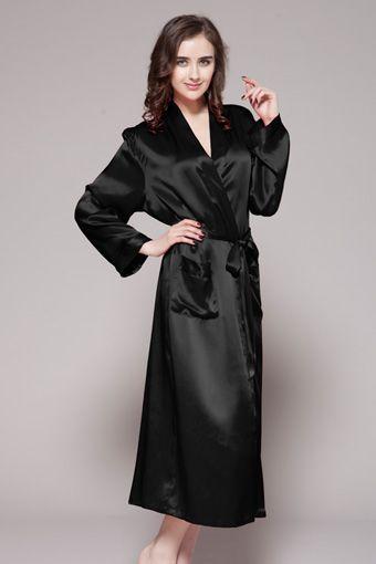 22 Momme Classic Full Length Silk Robe