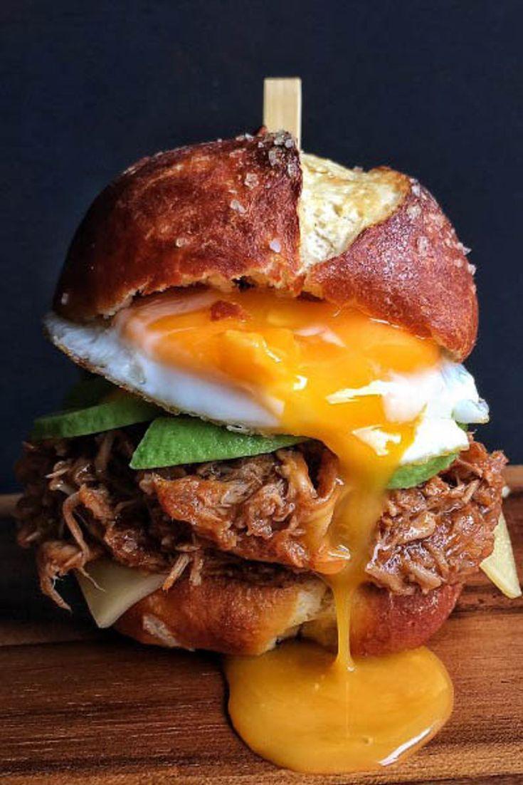 Recetas de bocadillos originales Cold Sandwiches, Healthy Sandwiches, Breakfast Sandwiches, Panini Sandwiches, Finger Sandwiches, Pork Sandwich, Sandwich Recipes, Sandwich Ideas, Top Recipes