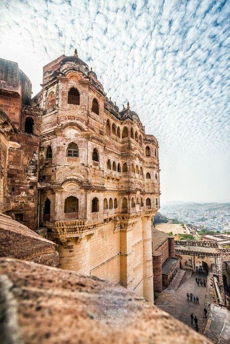 Mehrangarh Hindu Fort, Jodhpur, Rajasthan. Built in 1459 - India - Hinduism architecture