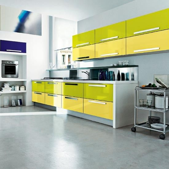 Lime green kitchen   Summer colour schemes - 10 of the best   PHOTO GALLERY   summer decorating ideas   Housetohome.co.uk