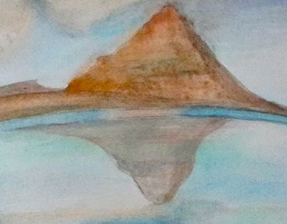 Mystical Mountains  -Mixed Media Project