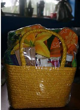 Beach Gift Basket (love the beach bag idea!)This would be great for an end of year gift.