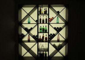 Zone 1 Like the lightbox display for spirit bottles