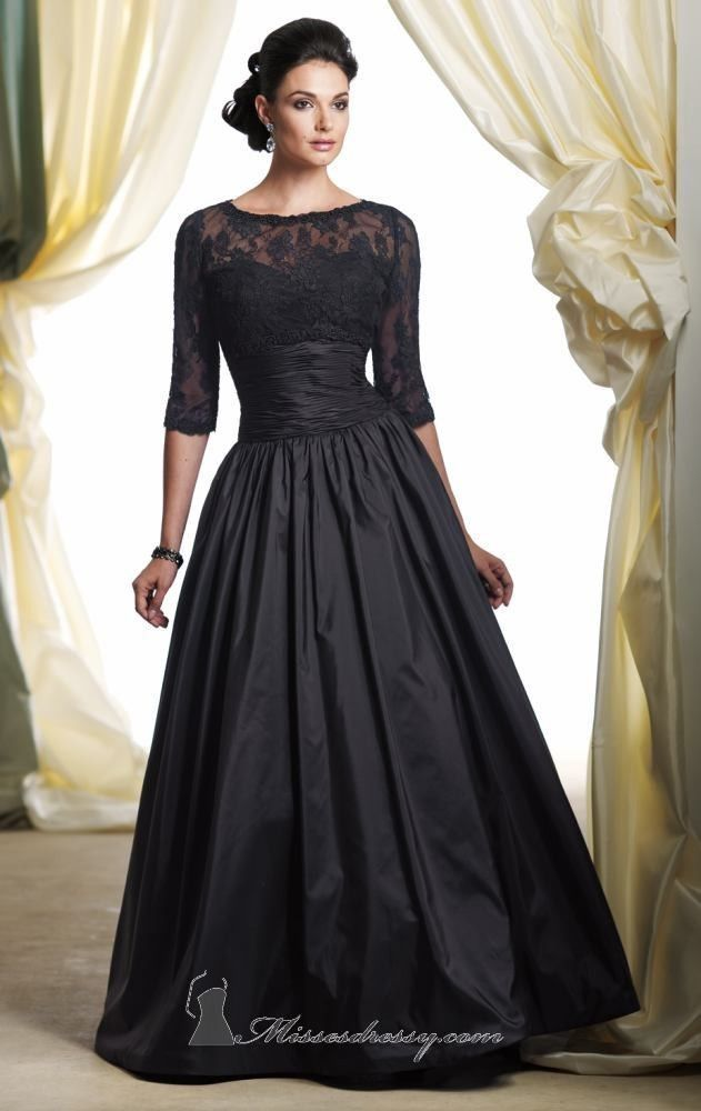 Classic Evening Mother of the Bride Groom Elegant Wedding Formal Gown Dress #Handmade #Formal