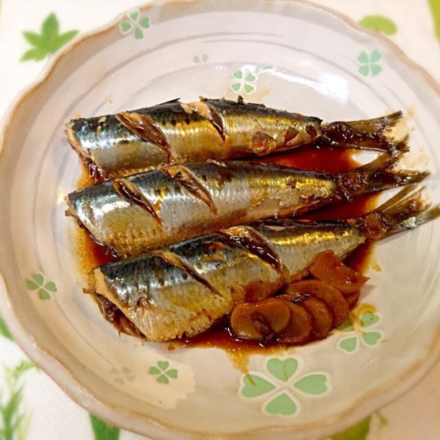 鰯の煮付け、小骨あって食べにくいけど その魚らしさもいいですね。 - 14件のもぐもぐ - 鰯の煮付け by okinkin