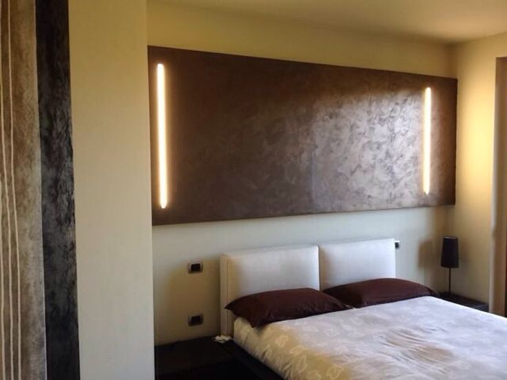 testata letto in legno rasata a gesso. esempio progettuale ...