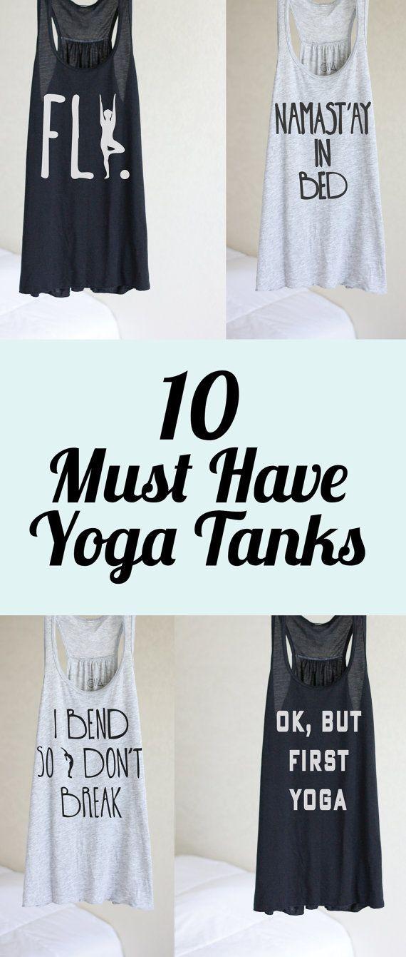 Namast'ay In Bed Yoga Shirt Flowy tank Yoga Top by ArimaDesigns