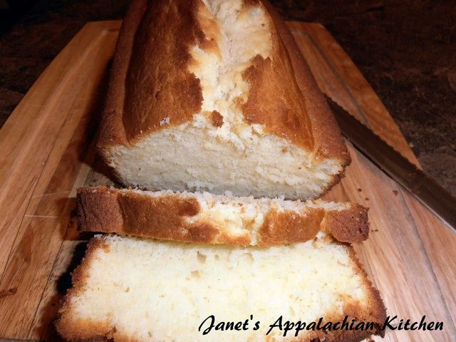 Condensed Milk Pound Cake from Janet's Appalachian Kitchen