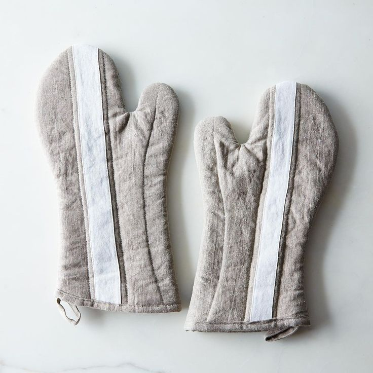 Striped Linen Oven Mitt on Food52