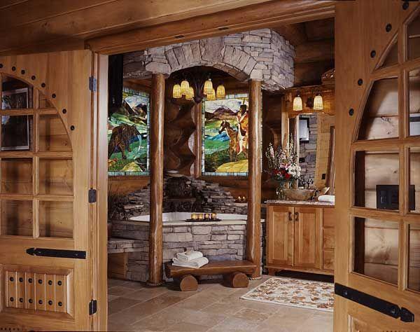 A Log Cabin 39 S Smoky Mountain Master Bath Log Cabins