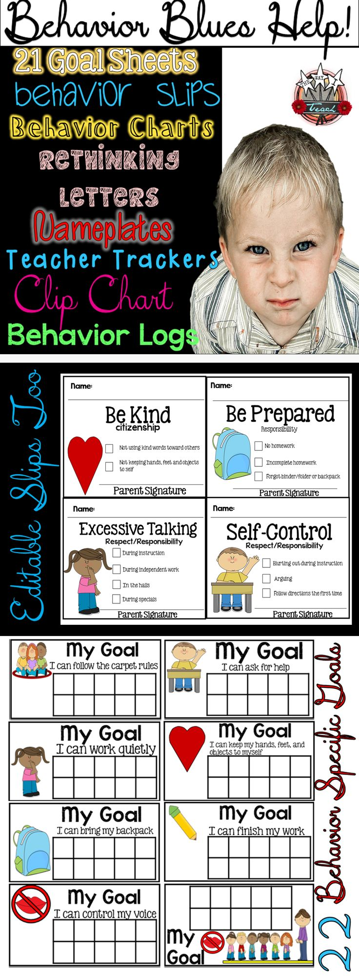 Classroom Management Behavior Tools: Charts, Forms, Slips, Rethinking Letters