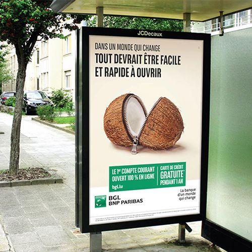 Annonceur : BGL BNP Paribas Campagne : compte courant 100% en ligne Agence : VOUS Publication : printemps 2016