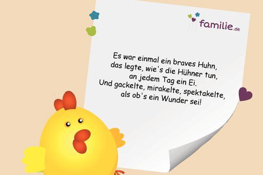 Kinderreime: Es war einmal ein Huhn