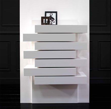 Mueble auxiliar en blanco para decorar tu rincón favorito de tu salón, dormitorio o entrada