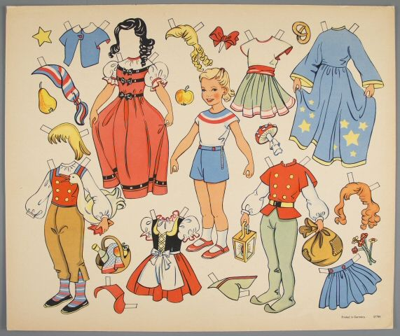 77.4216: paper doll   Paper Dolls   Dolls   National Museum of Play Online Collections   The Strong