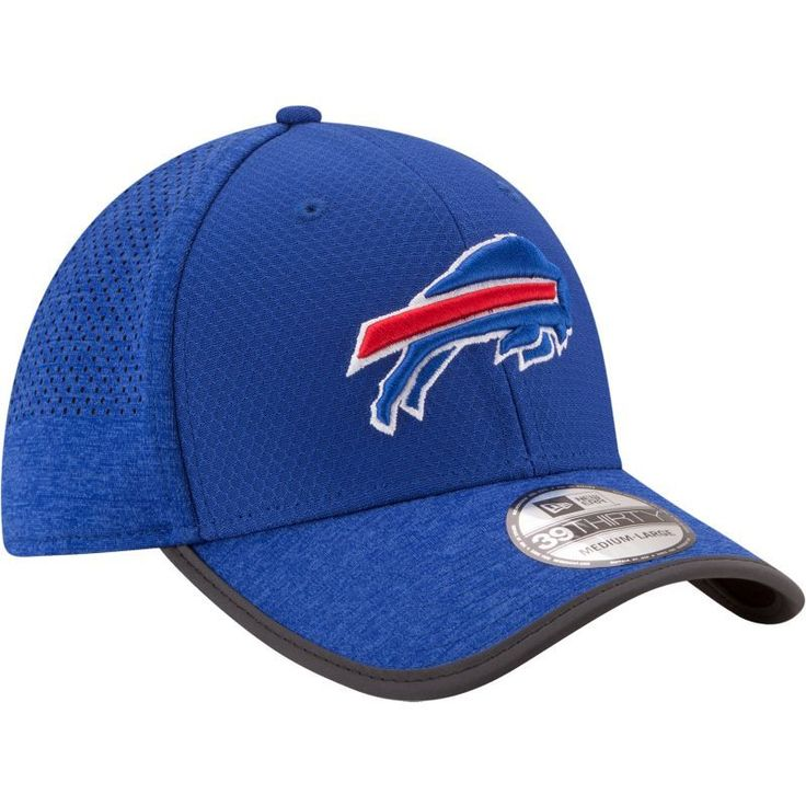 New Era Men's Buffalo 2017 Training Camp 39Thirty Blue Flex Hat, Size: Medium/Large, Team
