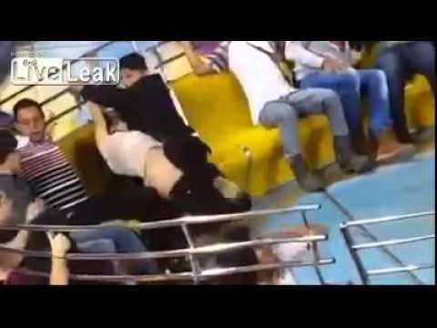 Fairground ride manages to undress girl