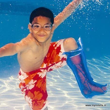 ZWEMHOES KIND BEEN (74 CM) - zwemmen met gips- gipsverband