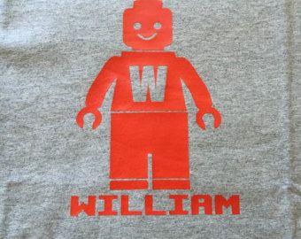 Lego personnalisé inspiré Tee Shirt / chemise de Lego avec nom / Lego Man…
