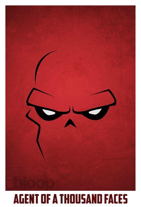 Bloops superhero posters - Red Skull