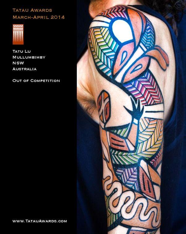 aboriginal tattoos - rainbow serpent