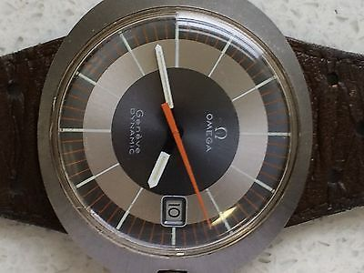 Omega Geneve dynamic s/s men`s swiss made in brown dial 100% authentic!!!