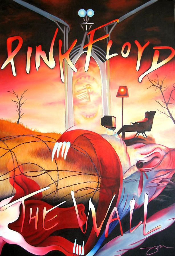 Pink Floyd Painting - Pink Floyd The Wall by Joshua Morton