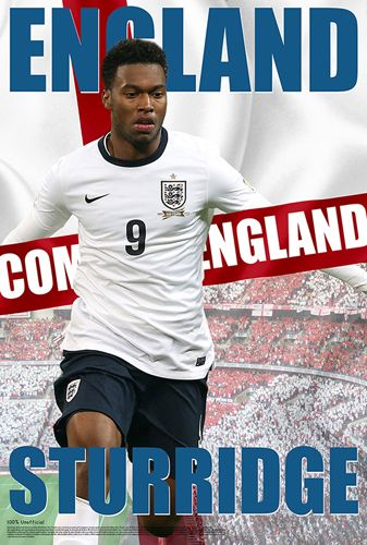 Daniel Sturridge Come On England World Cup 2014 Soccer Poster - Starz