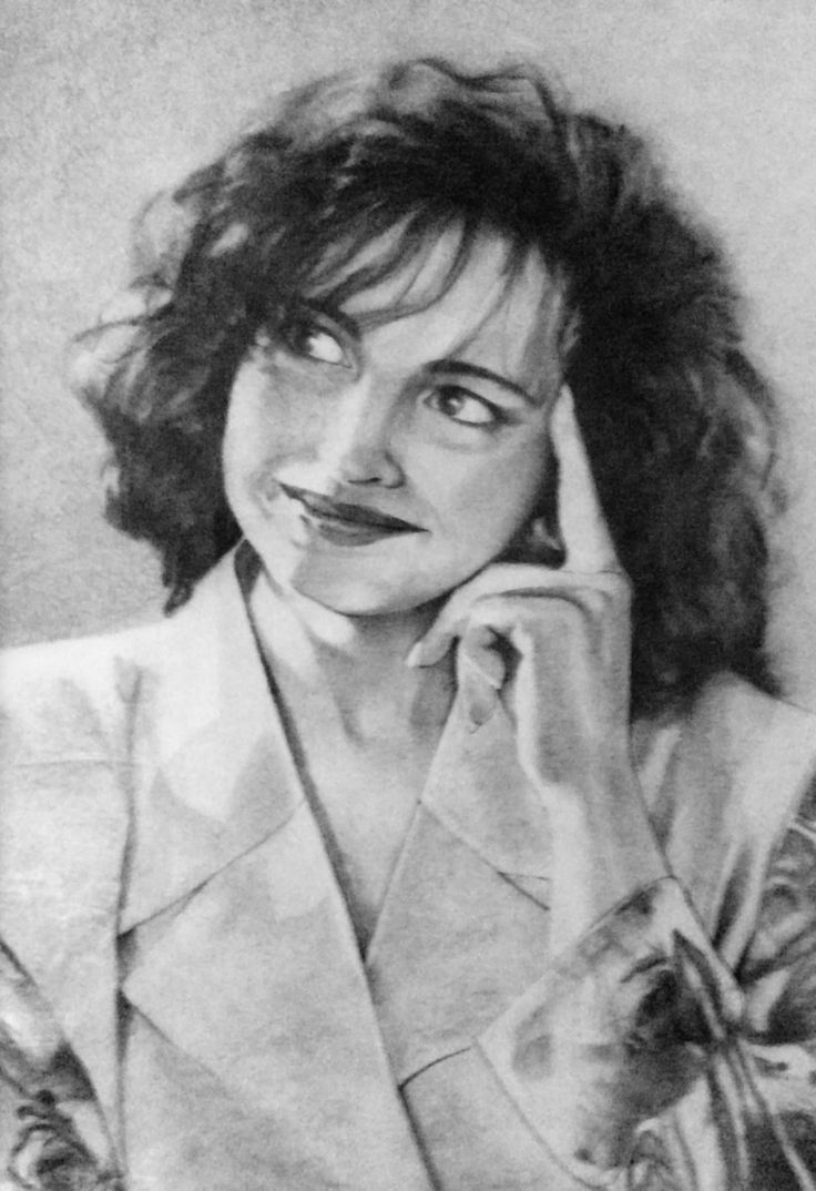 Retrato a lápiz y carboncillo (década de los 90) •  Portrait pencil and charcoal