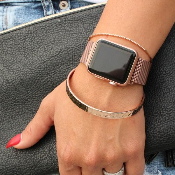 Apple Watch Stainless Steel Band Rose Gold Silver Gold Black Pink Go Sweet Apple Watch Bands Women Rose Gold Apple Watch Apple Watch Stainless Steel