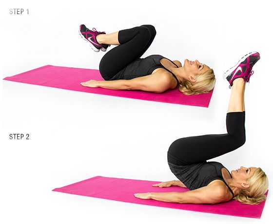 Best 25 reverse crunches ideas on pinterest exercises for Floor exercises for abs
