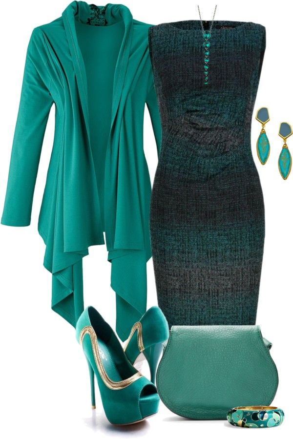 What Color Matches Cardigan With Silver Shoes And Teal Dress