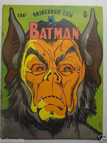 Vintage Batman 70s Man Bat RARE Coloring Book Brazil Issue Unused