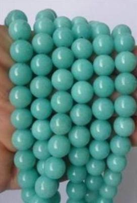 "AAA 10mm Brazilian Aquamarine Gem Loose Beads 15"""