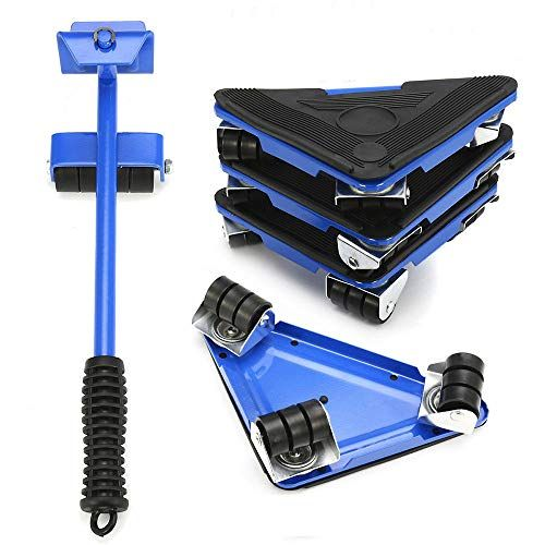 Mandycng Magic Mover Pcs Furniture Lifter Moves Wheels Mover Sliders Kit Lbs Home Moving System Furniture Sliders Furniture Movers Blue Furniture