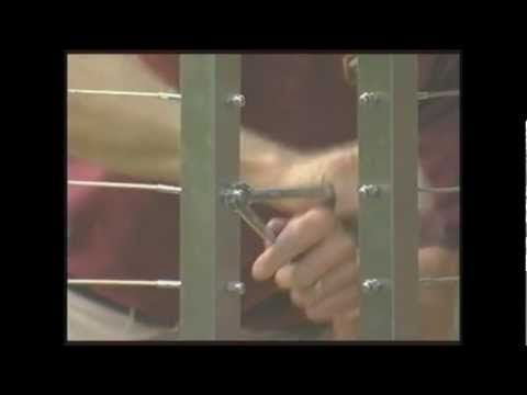 Stainless Steel Cable Railing Installation - YouTube