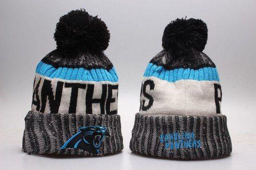 Carolina Panthers Winter Outdoor Sports Warm Knit Beanie Hat Pom Pom ... a4e17a185fd