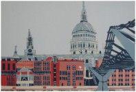 Jennie Ing | St Paul's with City of London School | #art | #london | #print