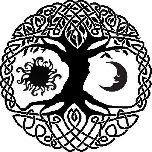 Celtic tree of life with sun and moon tattoo idea. Since I'm a wee bit Irish :)