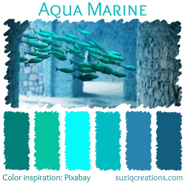 Aqua Marine color scheme from suziqcreations.com